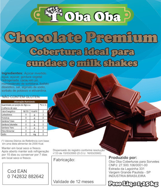 Rotulo Bag Chocolate Premium